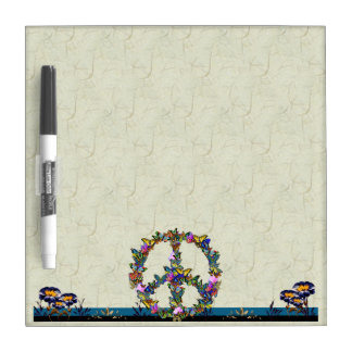 Butterfly Peace Symbol Dry Erase Boards