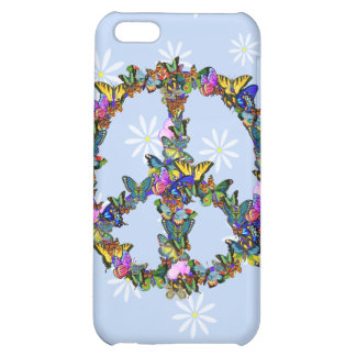 Butterfly Peace Symbol iPhone 5C Cases