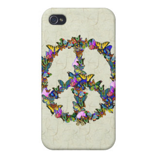Butterfly Peace Symbol Case For iPhone 4