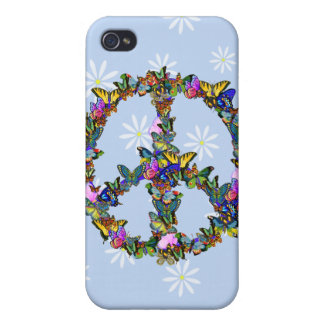 Butterfly Peace Symbol Cover For iPhone 4