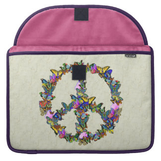Butterfly Peace Symbol MacBook Pro Sleeves