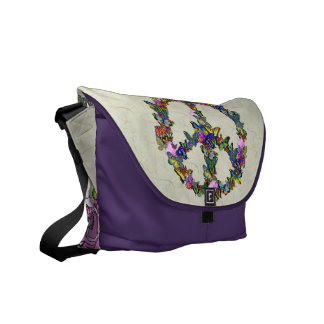 Butterfly Peace Symbol Commuter Bags