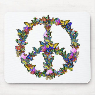 Butterfly Peace Symbol Mouse Pad