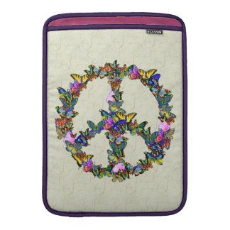 Butterfly Peace Symbol Sleeves For MacBook Air
