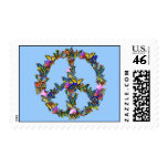 Butterfly Peace Symbol Stamp