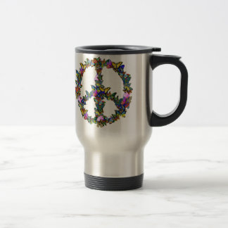 Butterfly Peace Symbol Travel Mug