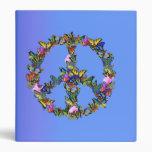 Butterfly Peace Symbol Vinyl Binder