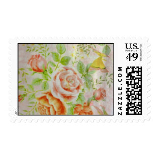 Butterfly Peach Postage Stamp