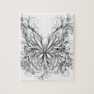 Butterfly Pencil Sketch Jigsaw Puzzle