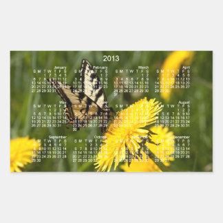 Butterfly Perch; 2013 Calendar Rectangle Stickers