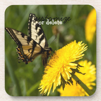 Butterfly Perch; Customizable Beverage Coaster