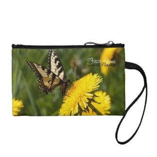 Butterfly Perch; Customizable Change Purse