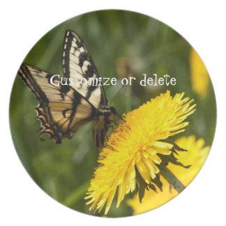Butterfly Perch; Customizable Dinner Plate