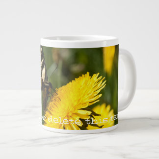 Butterfly Perch; Customizable Large Coffee Mug