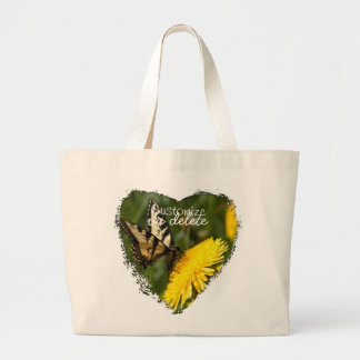 Butterfly Perch; Customizable Large Tote Bag
