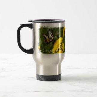 Butterfly Perch; Customizable Travel Mug