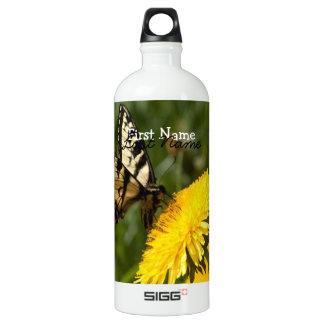 Butterfly Perch; Customizable Water Bottle
