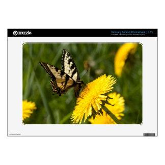 Butterfly Perch Samsung Chromebook Decals