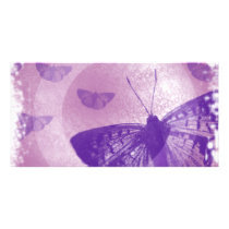 butterfly personalized photo card