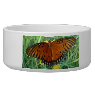 Butterfly Pet Bowls Dog Water Bowl