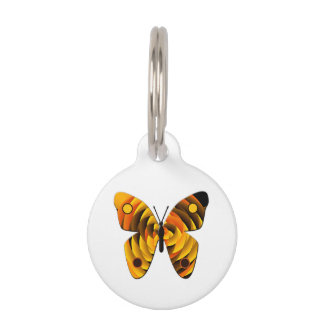 Butterfly Pet Name Tag
