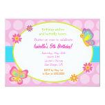 "Butterfly Photo Birthday Invitation 5"" X 7"" Invitation Card"