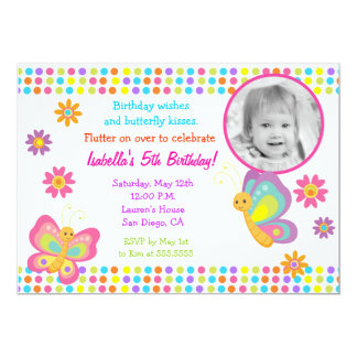 butterfly birthday invitations & announcements | zazzle, Birthday invitations