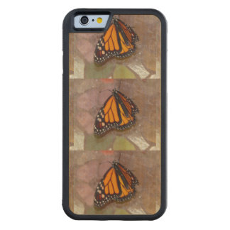 Butterfly Photo Carved Maple iPhone 6 Bumper Case