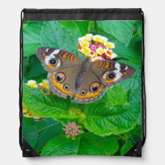Butterfly Photo Drawstring Backpack