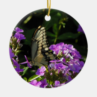 Butterfly Photo Gift Ceramic Ornament