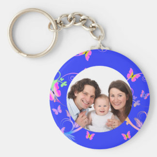 Butterfly/ Photo Keychain
