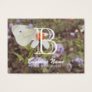 Butterfly Photography Monogram Beauty Salon Business Card