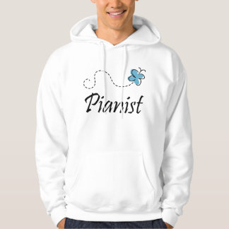Butterfly Piano Sweatshirt with hood