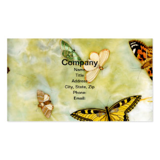 Butterfly Pietra Dura Business Card