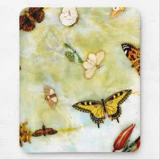 Butterfly Pietra Dura Mouse Pad