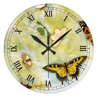 Butterfly Pietra Dura Wallclock
