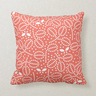 Butterfly Pillow in Coral