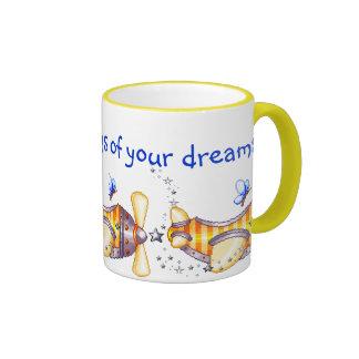 Butterfly Pilot Pixel Art Airplane Coffee Mugs