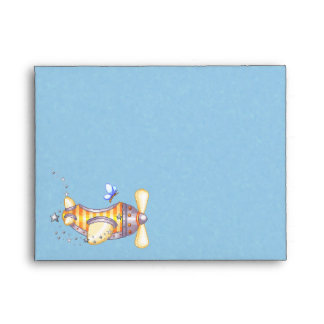 Butterfly Pilot Pixel Art Airplane Envelope