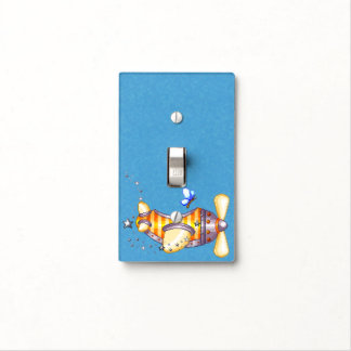Butterfly Pilot Pixel Art Airplane Switch Plate Cover