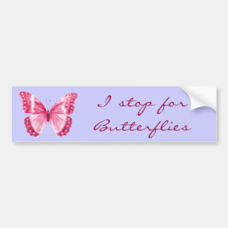 Butterfly Pink Bumper Sticker