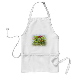 Butterfly & Pink Flowers Apron