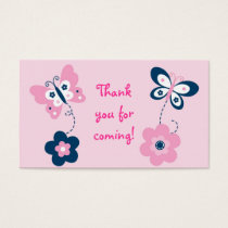 Butterfly Pink Navy Goodie Bag Tags Gift Tags