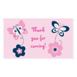 Butterfly Pink Navy Goodie Bag Tags Gift Tags Business Card
