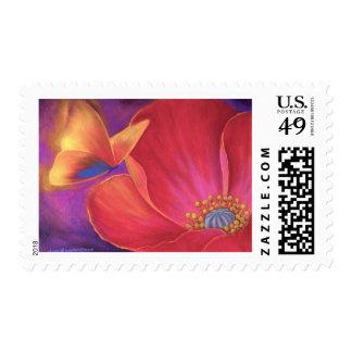 Butterfly Pink Poppy Art - Multi Stamps