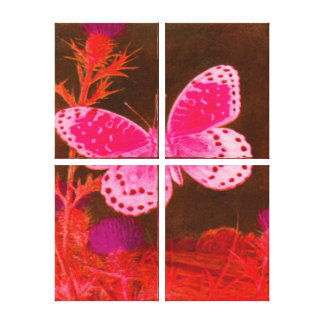 Butterfly - PINK - RED Canvas Print