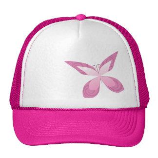 Butterfly Pink Ribbon Trucker Hat