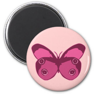 Butterfly Pinks Refrigerator Magnets