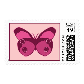 Butterfly Pinks Postage