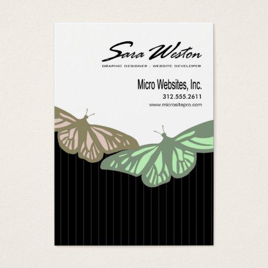 Butterfly Pinstripes Pro Artist Website Developer Business Card